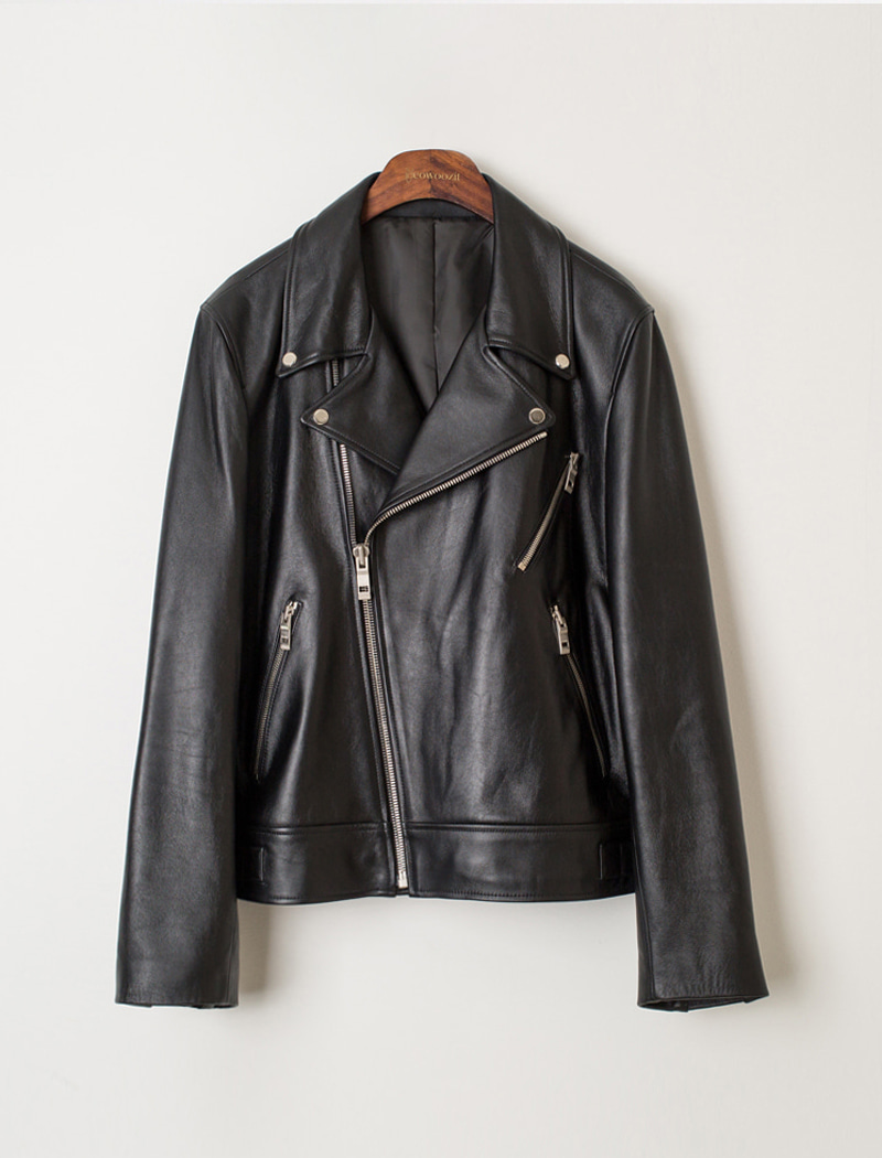 [YWZ]Basic Leather Jacket